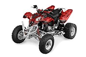 Polaris Predator 500 ATV Graphic Kit - 2002-2011 Reaper Red