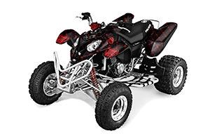 Polaris Predator 500 ATV Graphic Kit - 2002-2011 Silver Star - Reloaded Black