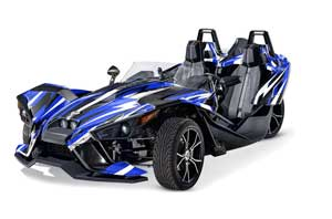 Polaris Slingshot SL Graphic Kit - All Years Attack Blue