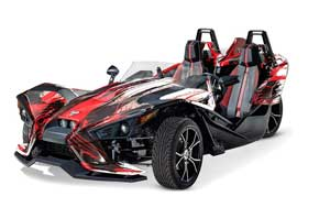 Polaris Slingshot SL Graphic Kit - All Years Carbon X Red