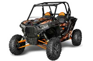 Polaris RZR 1000 XP 2 Door Graphic Kit - 2013-2016 Mad Hatter Orange