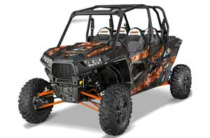 Polaris RZR 1000 XP 4 Door Graphic Kit - 2013-2016 Mad Hatter Orange