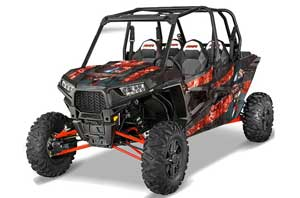 Polaris RZR 1000 XP 4 Door Graphic Kit - 2013-2016 Mad Hatter Red
