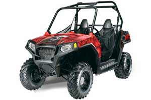 Polaris RZR 570 Graphic Kit - All Years Bone Collector Red