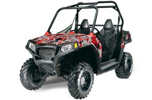 Polaris RZR 570 Graphic Kit - All Years Camoplate Red