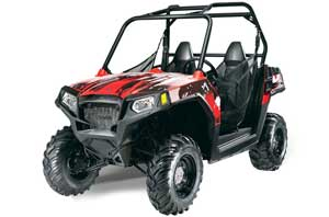 Polaris RZR 570 Graphic Kit - All Years Carbon X Red