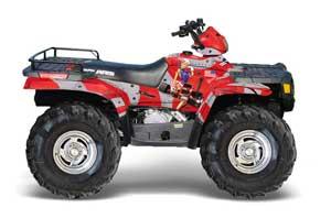 Suzuki LTR 450 ATV Graphic Kit - 2006-2009 Checkered Skull Red T Bomber