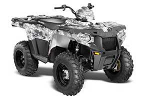 Polaris Sportsman 325ETX / 450 / 570 ATV Graphic Kit - 2014-2017 Camoplate White