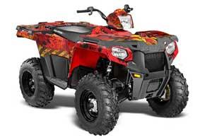 Polaris Sportsman 325ETX / 450 / 570 ATV Graphic Kit - 2014-2017 Meltdown Red