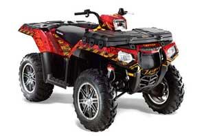 Polaris Sportsman 550 / 850 / 850SP / 1000 ATV Graphic Kit - 2009-2016 Meltdown Red