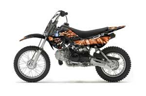 Suzuki RM 65 Dirt Bike Graphic Kit - All Years Mad Hatter Black