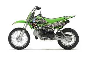 Suzuki RM 65 Dirt Bike Graphic Kit - All Years Mad Hatter Green