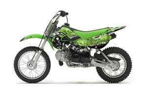 Suzuki RM 65 Dirt Bike Graphic Kit - All Years Reaper Green