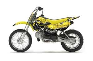Suzuki RM 65 Dirt Bike Graphic Kit - All Years Reaper Yellow