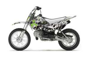 Yamaha YZ250 2 Stroke Dirt Bike Graphic Kit - 1993-1995 Silver Star - Reloaded White Meltdown
