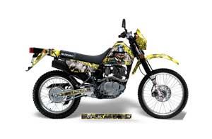 Suzuki DRZ 200 SE Dirt Bike Graphic Kit - 1996-2009 Mad Hatter Yellow
