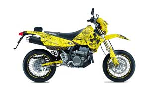 Suzuki DRZ 400 S Metal Tank Dirt Bike Graphic Kit - 2000-2018 Meltdown Yellow