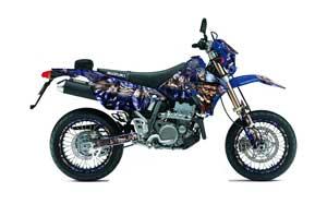 Suzuki DRZ 400 S Metal Tank Dirt Bike Graphic Kit - 2000-2018 Mad Hatter Blue