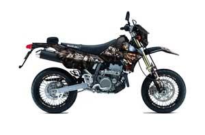 Suzuki DRZ 400 S Metal Tank Dirt Bike Graphic Kit - 2000-2018 Mad Hatter Black