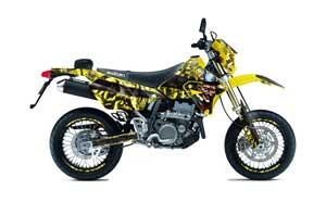 Suzuki DRZ 400 S Metal Tank Dirt Bike Graphic Kit - 2000-2018 Mad Hatter Yellow