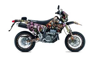 Suzuki DRZ 400 S Metal Tank Dirt Bike Graphic Kit - 2000-2018 Mad Hatter Full