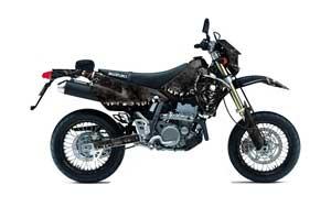 Suzuki DRZ 400 S Metal Tank Dirt Bike Graphic Kit - 2000-2018 Reaper Black