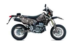 Suzuki DRZ 400 S Metal Tank Dirt Bike Graphic Kit - 2000-2018 Reaper Silver