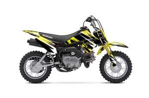 Suzuki DRZ 70 Dirt Bike Graphic Kit - 2008-2016 Attack Yellow