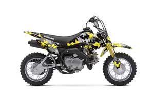 Suzuki DRZ 70 Dirt Bike Graphic Kit - 2008-2016 Camoplate Yellow
