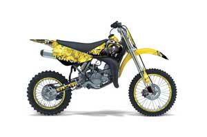 Suzuki RM 85 Dirt Bike Graphic Kit - 2002-2015 Reaper Yellow