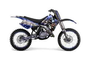 Suzuki RM 250 Dirt Bike Graphic Kit - 1989-1992 Mad Hatter Blue
