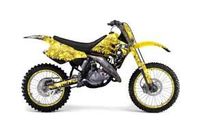Suzuki RM 250 Dirt Bike Graphic Kit - 1989-1992 Reaper Yellow