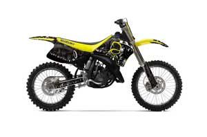 Suzuki RM 250 Dirt Bike Graphic Kit - 1993-1995 Reaper Black