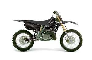Suzuki RM 125 Dirt Bike Graphic Kit - 1996-1998 Reaper Black