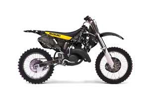 Suzuki RM 125 Dirt Bike Graphic Kit - 1999-2000 Reaper Black