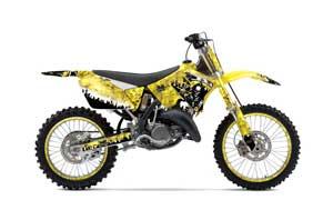Suzuki RM 250 Dirt Bike Graphic Kit - 2001-2009 Reaper Yellow