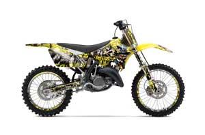 Suzuki RM 250 Dirt Bike Graphic Kit - 2001-2009 Mad Hatter Yellow
