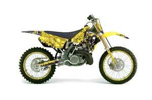 Suzuki RM 250 Dirt Bike Graphic Kit - 1996-1998 Reaper Yellow