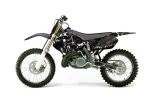 Suzuki RM 250 Dirt Bike Graphic Kit - 1999-2000 Reaper Black