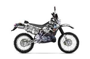 Suzuki RMX 250 S Dirt Bike Graphic Kit - 1996-1998 Mad Hatter White