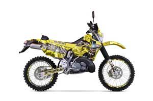 Suzuki RMX 250 S Dirt Bike Graphic Kit - 1996-1998 Mad Hatter Yellow