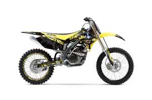 Suzuki RMZ 250 Dirt Bike Graphic Kit - 2004-2006 Mad Hatter Yellow