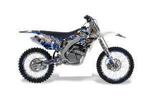 Suzuki RMZ 250 Dirt Bike Graphic Kit - 2007-2009 Mad Hatter Blue
