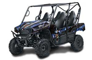 Kawasaki Teryx 800 4 Door Graphic Kit - 2013-2015 Mad Hatter Blue