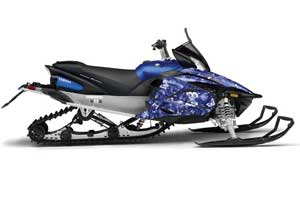 Yamaha Apex Sled Graphic Kit - 2011-2018 Butterfly Blue