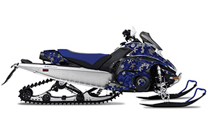 Yamaha FX Nytro Sled Graphic Kit - 2008-2014 Camoplate Blue