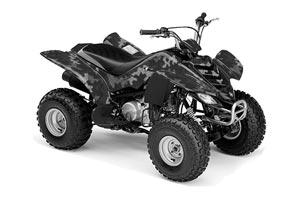 Yamaha Raptor 80 ATV Graphic Kit - 2003-2016 Camoplate Black