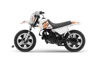 Yamaha PW50 Dirt Bike Graphic Kit - 1990-2018 Tribal Flame White
