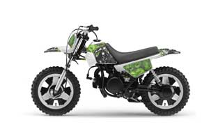 Yamaha PW50 Dirt Bike Graphic Kit - 1990-2018 Reaper Green