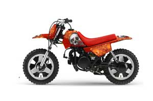 Yamaha PW50 Dirt Bike Graphic Kit - 1990-2018 Bone Collector Orange